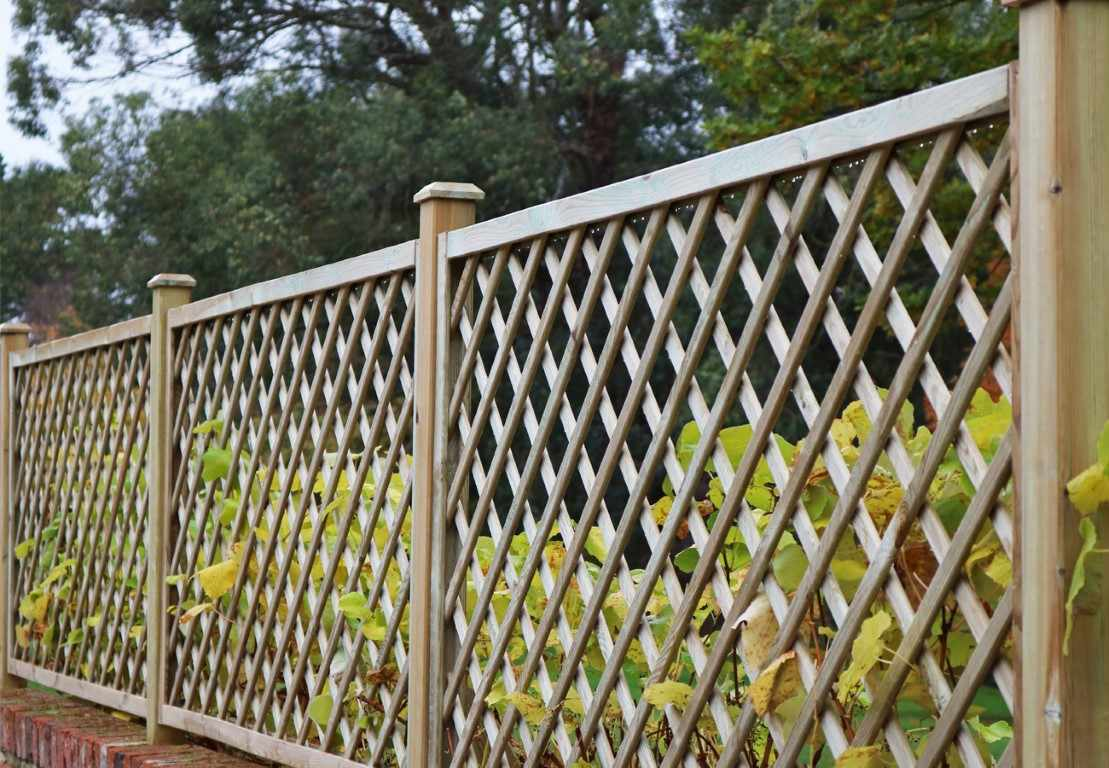 Open Diagonal Trellis Panel 70mm Gap Paint Options