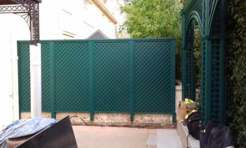 Tricoya backed trellis panels