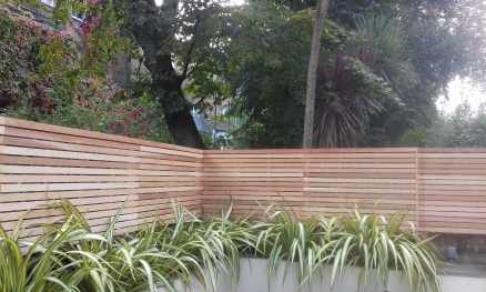 Western Red Cedar slatted panels