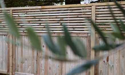 Heavy Duty Solid Panels with Contemporary Regular Slatted Panels fitted above
