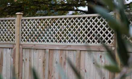Heavy Duty Solid Panels with Diagonal Trellis above
