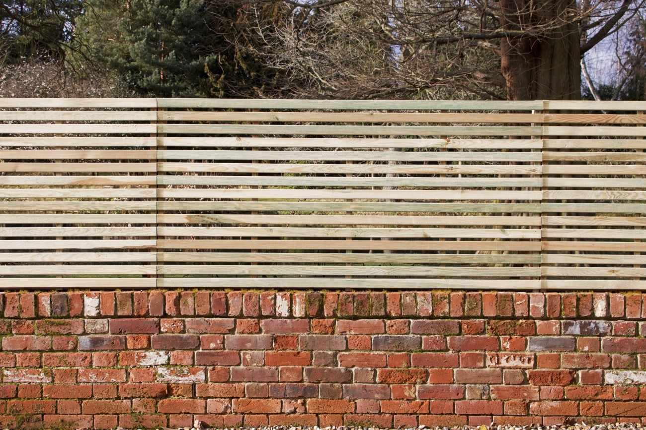 45 15 Slatted Panel Pre Painted Fsc Timber Garden