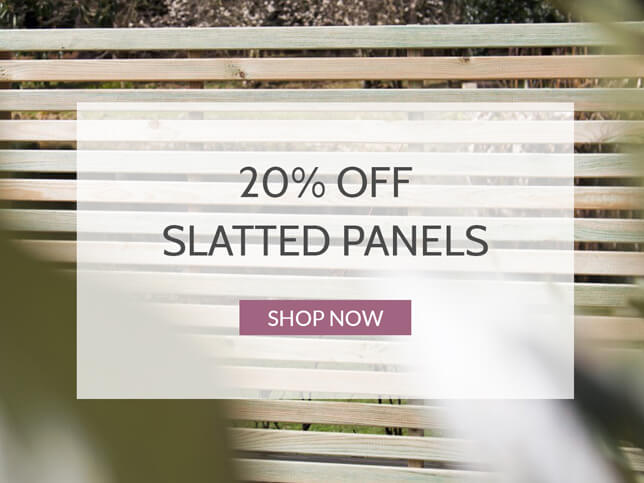 20% Off Slatted Panels