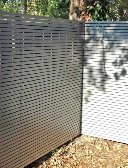 Painted Slatted Panels