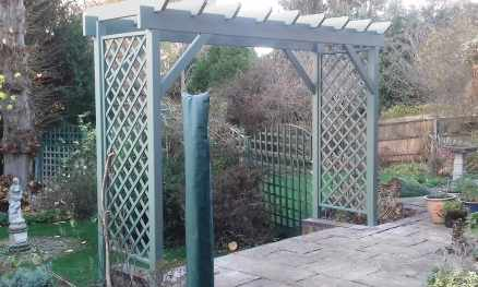 Arbour painted in Greenwich Green