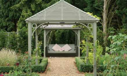 Painted Arbour & Swing Seat