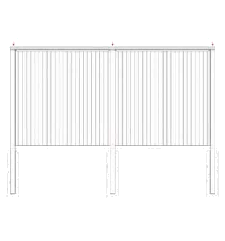 Fence Panels Using Posts