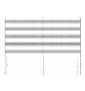 Slatted Panels Using Posts