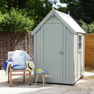 Painted Wooden Shed (Manhattan Grey)