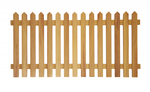 Prestige Pointed Top Picket Fence (Iroko)