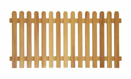 Prestige Round Top Picket Fence (Iroko)