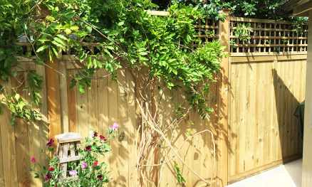 Heavy Duty Solid Panels Open Square Trellis 70mm gap on top Natural Unpainted